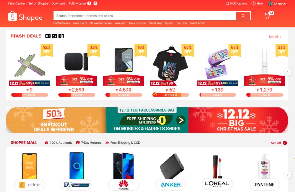Shopee Philippines Homepage