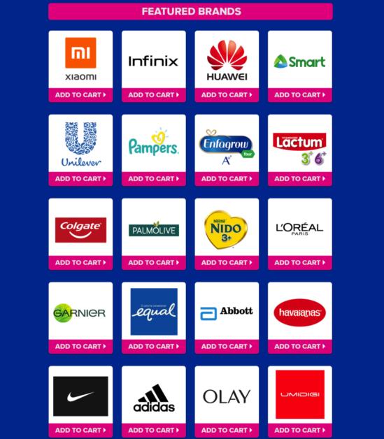 Lazada Top Brands